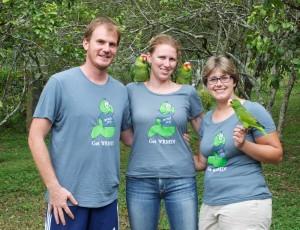 Devin, Rachel and Trish in Belize