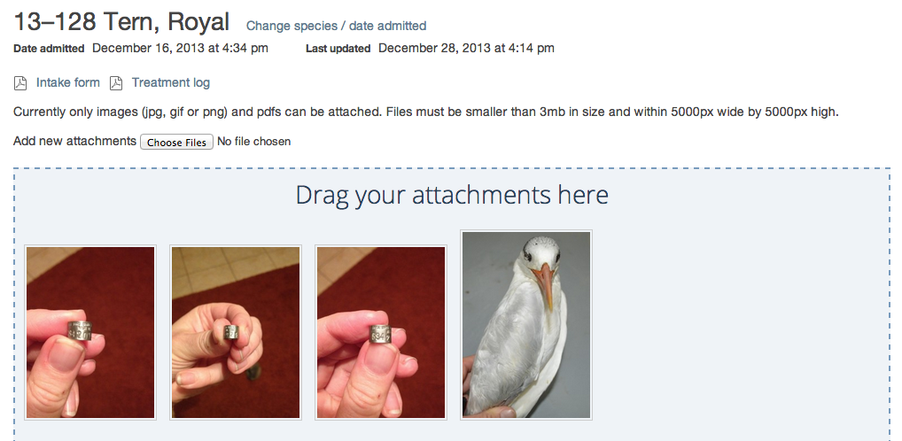 Attachments Screen Shot