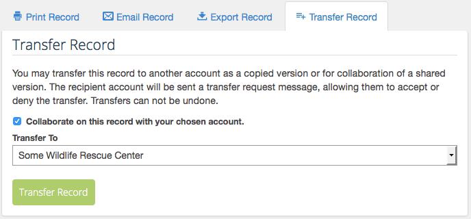 Transfer Record